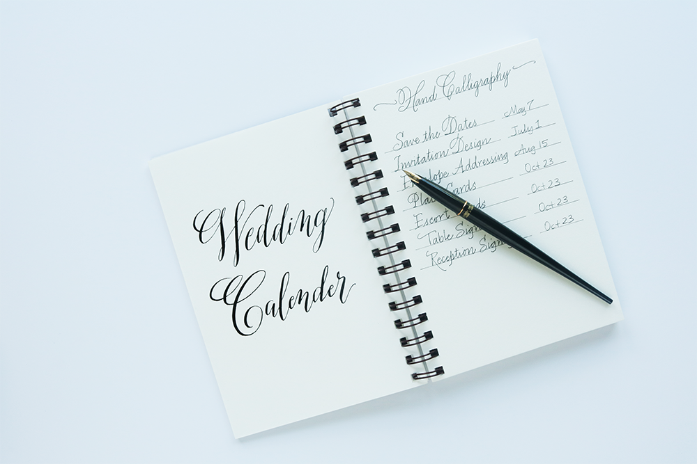 Wedding Calligraphy Calendar