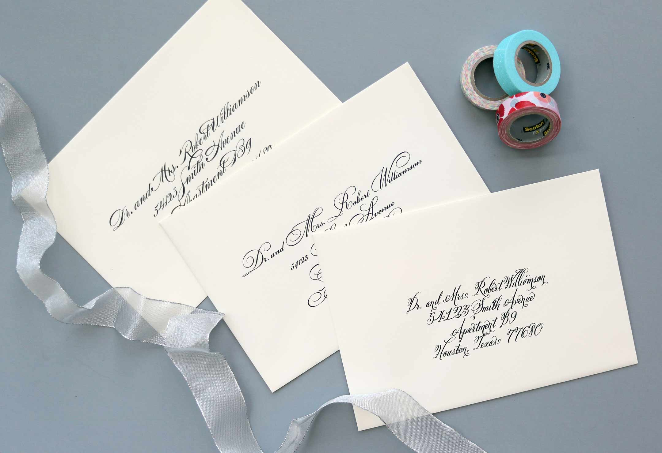 Computer Calligraphy - Envelope Addressing - Place Cards - Houston ...