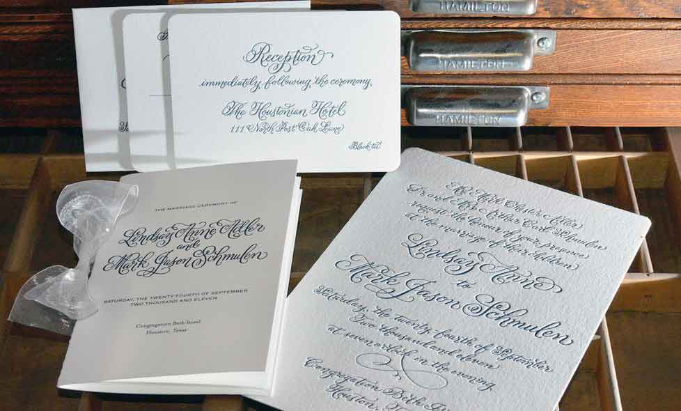 Invitation Design Modern Calligraphy