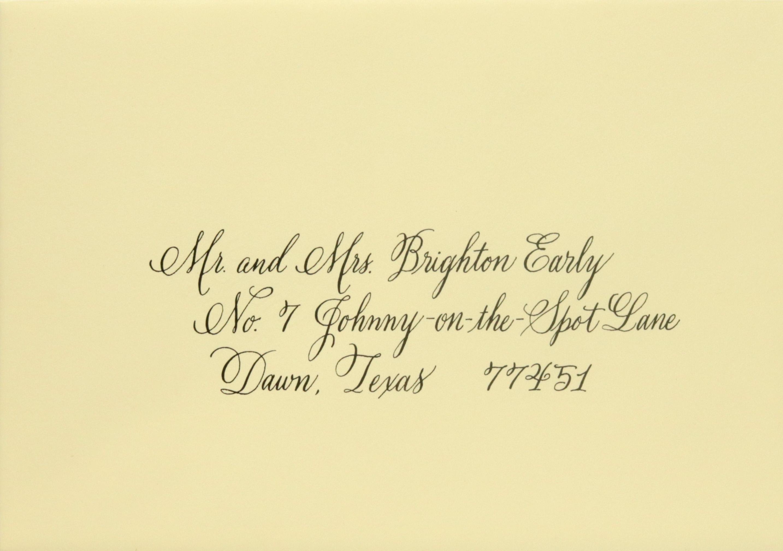 Modern calligraphy styles hand envelope