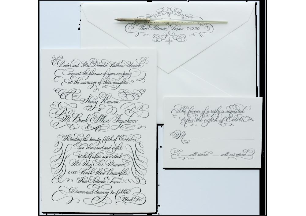 Invitation Design Name Designs Hand Calligraphy