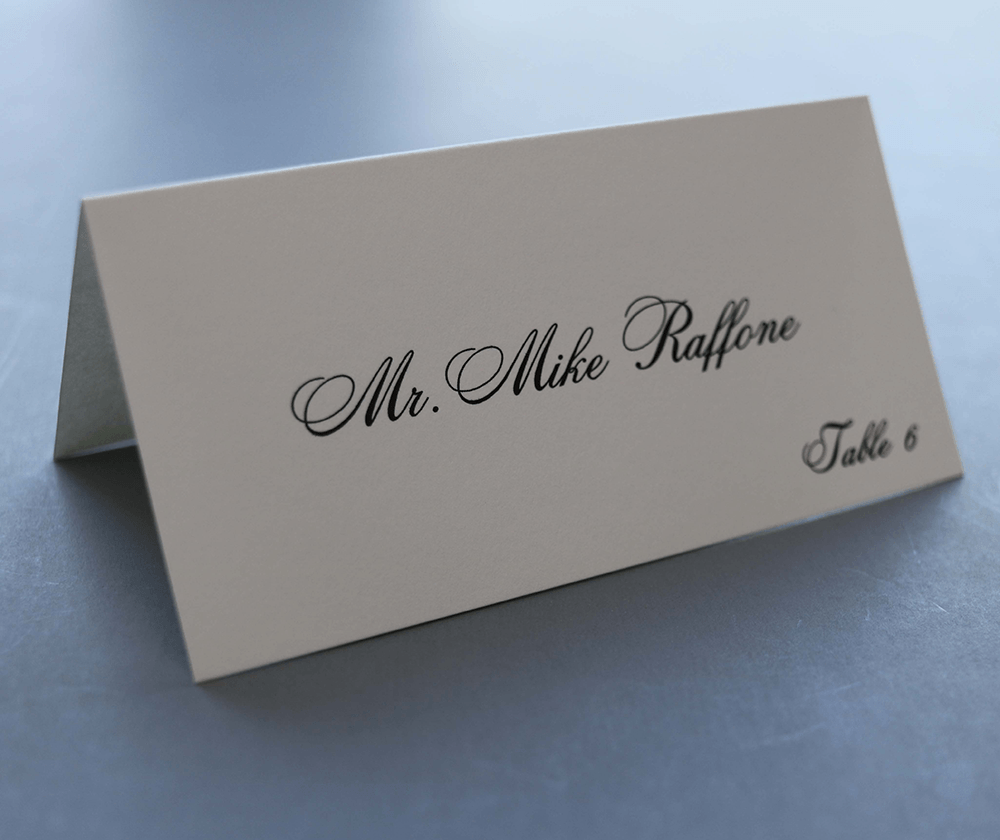 Computer Calligraphy Envelope Addressing Place Cards
