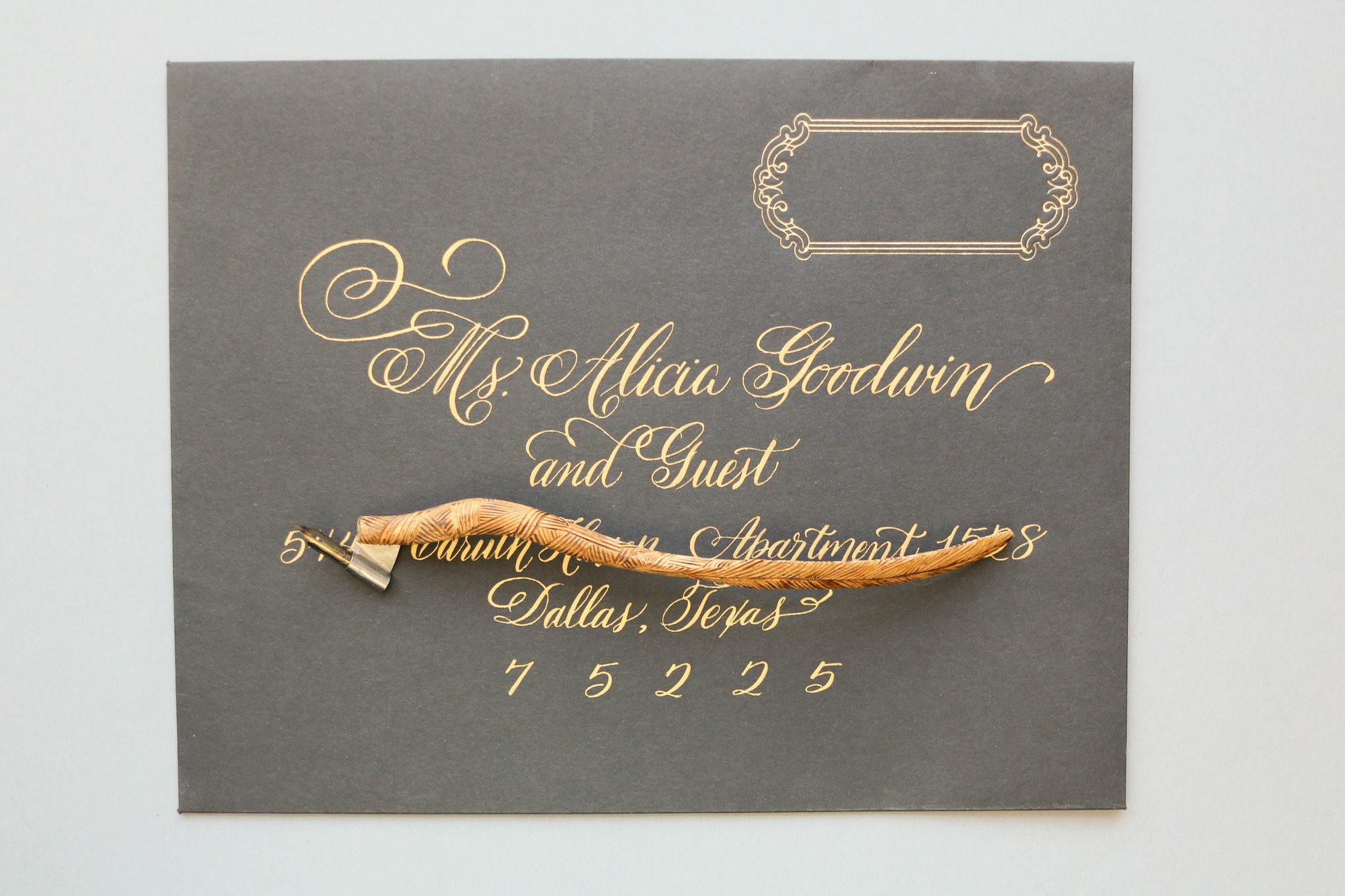 Hand Calligraphy Weddings Envelope Addressing