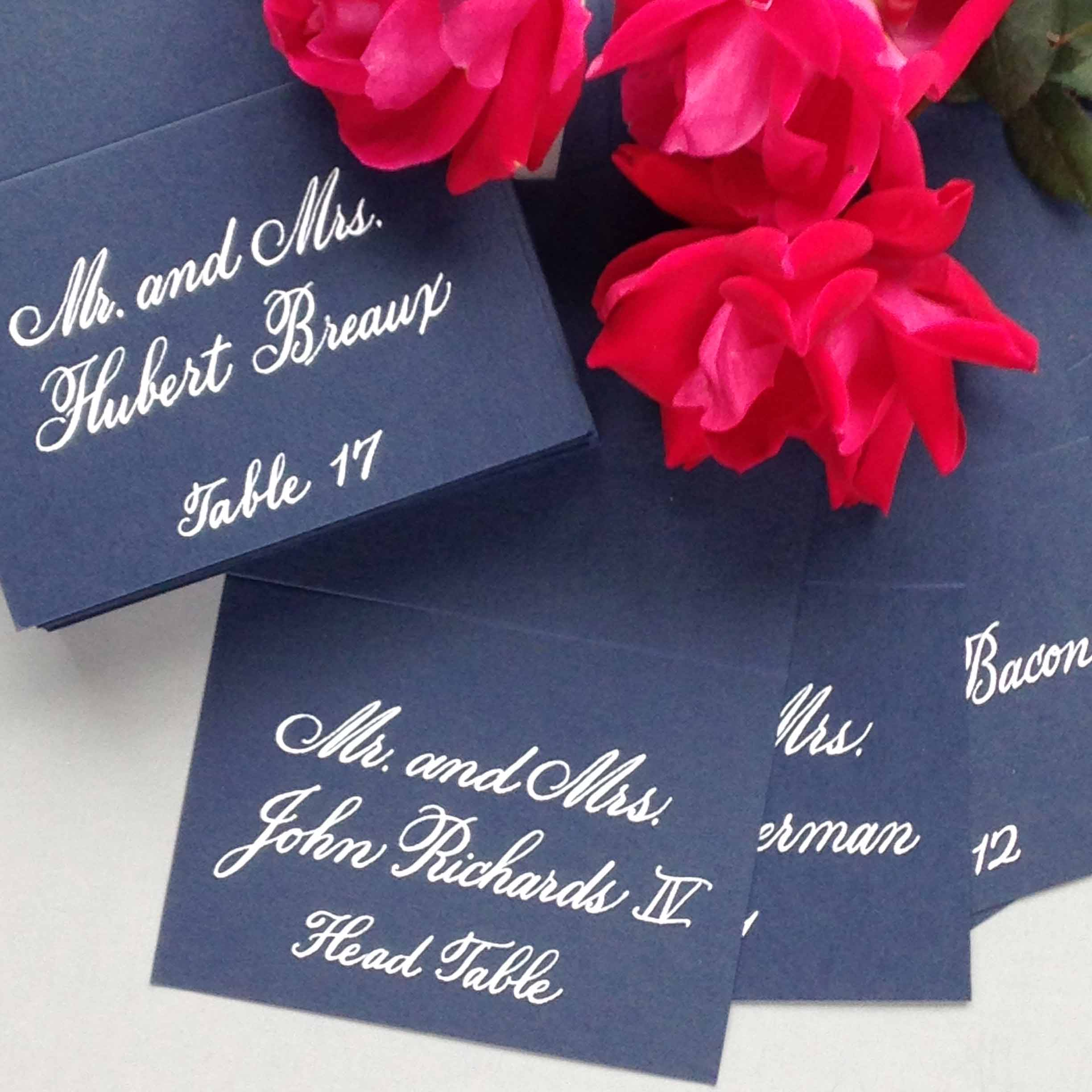 Place Cards - Escort Cards - Buffet Cards - Reception Paper Goods